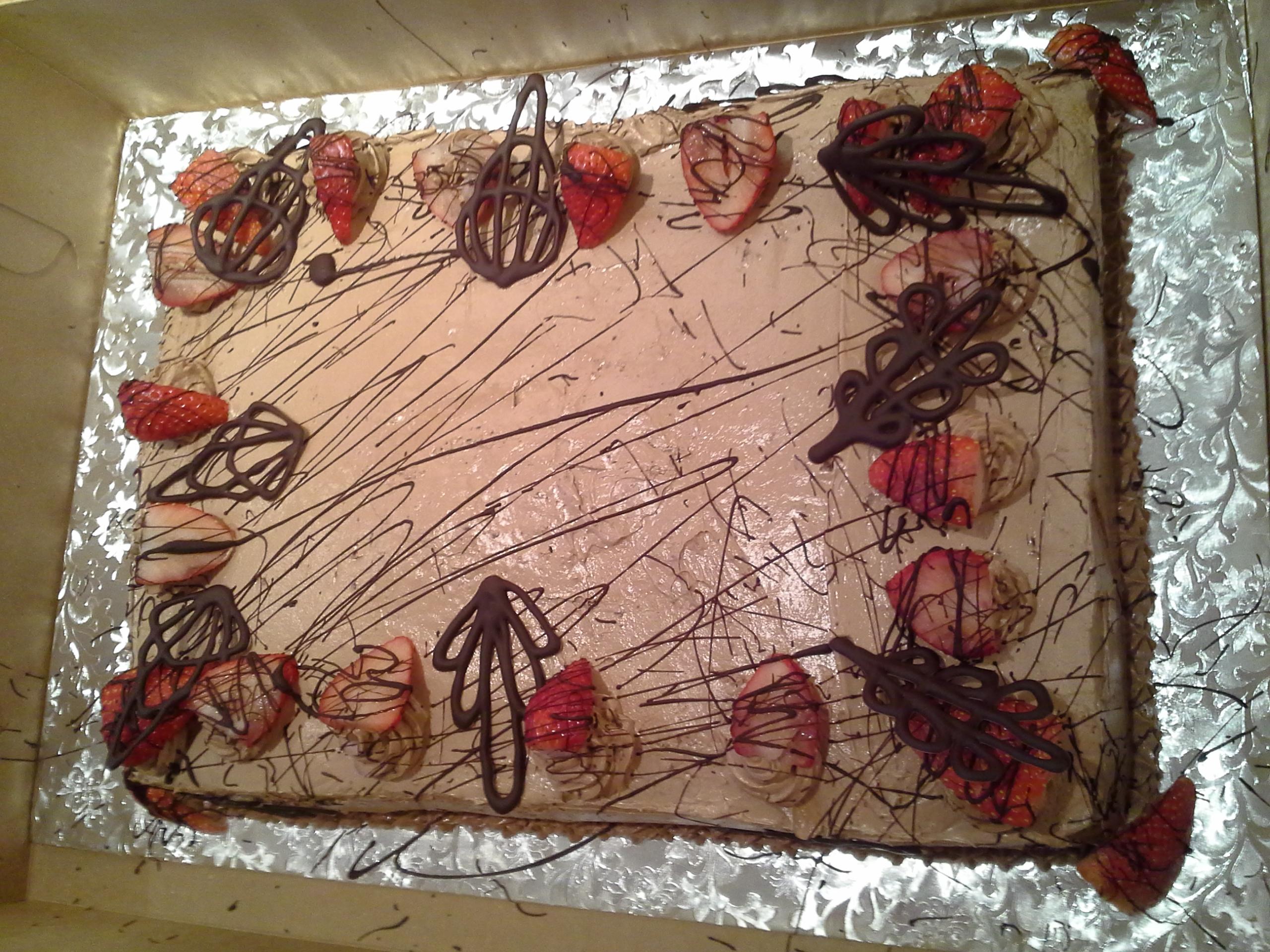 Chocolate cake, cake, strawberry,