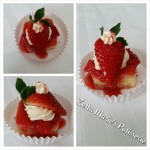 Strawberry Short Cake, Medallions, bite sizes, mini, litle cake, Zetta Marie's, Zetta Marie's Patisserie, yellow cake, white cake, small cake